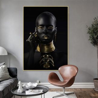 Noir Queen Canvas Print Artwork